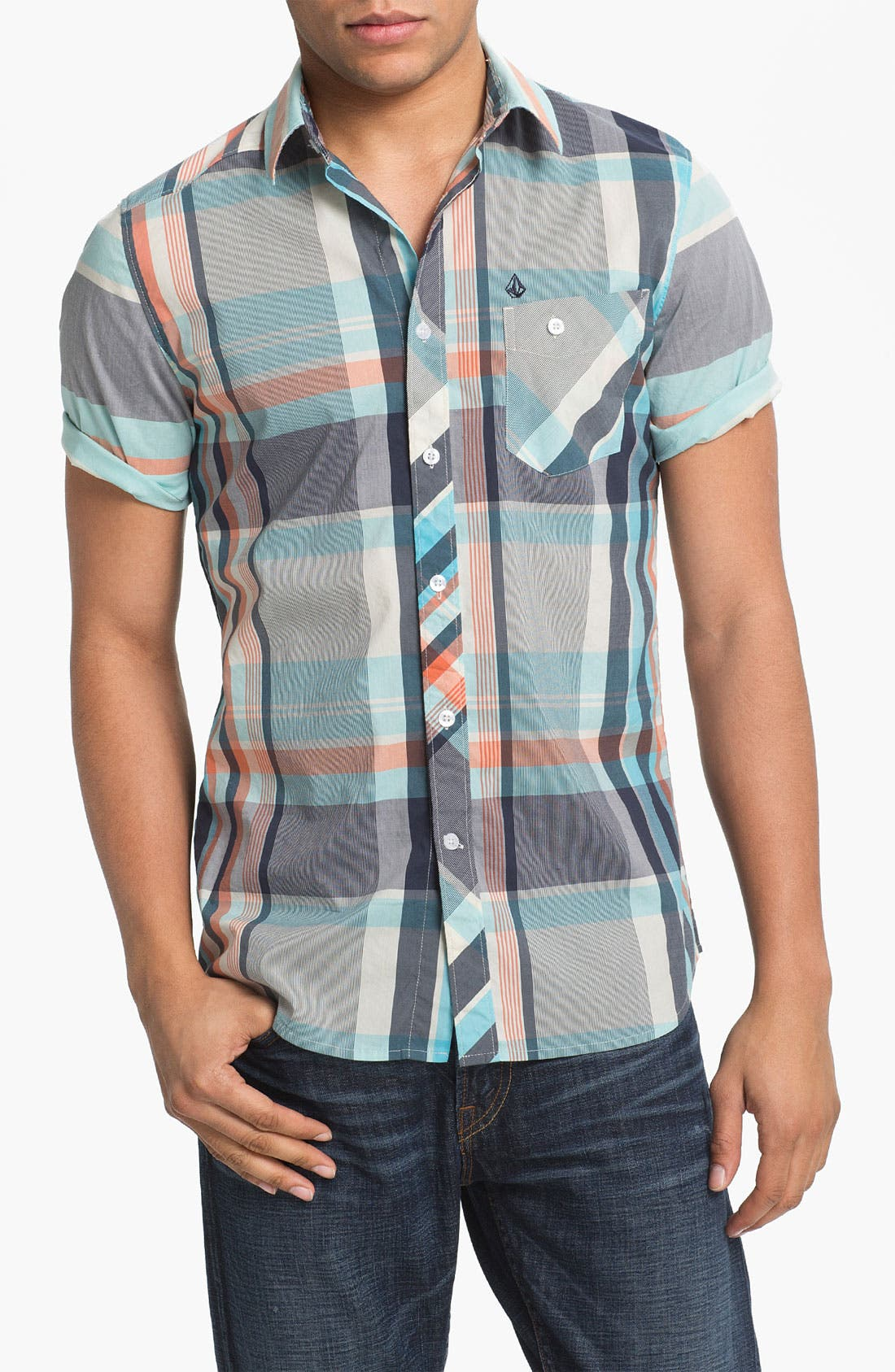 Alternate Image 1 Selected - Volcom 'Lonsway' Plaid Woven Shirt