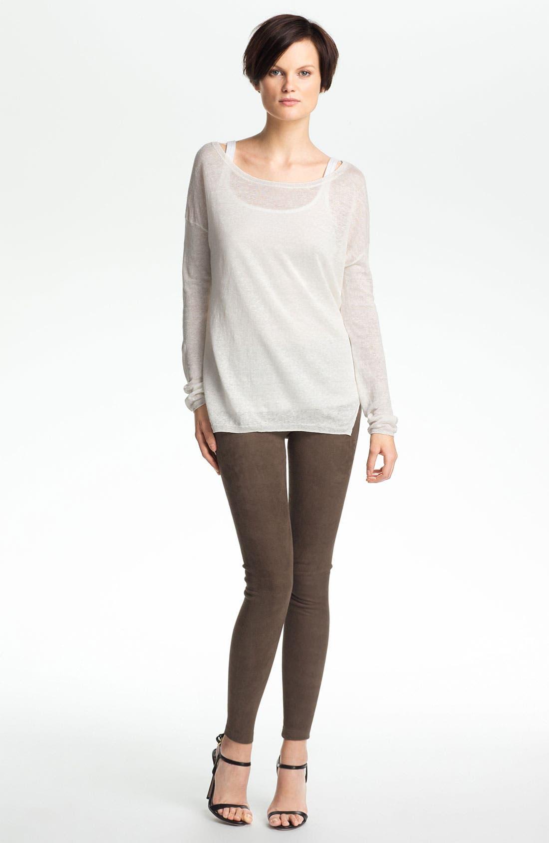 Alternate Image 1 Selected - Vince Linen Sweater