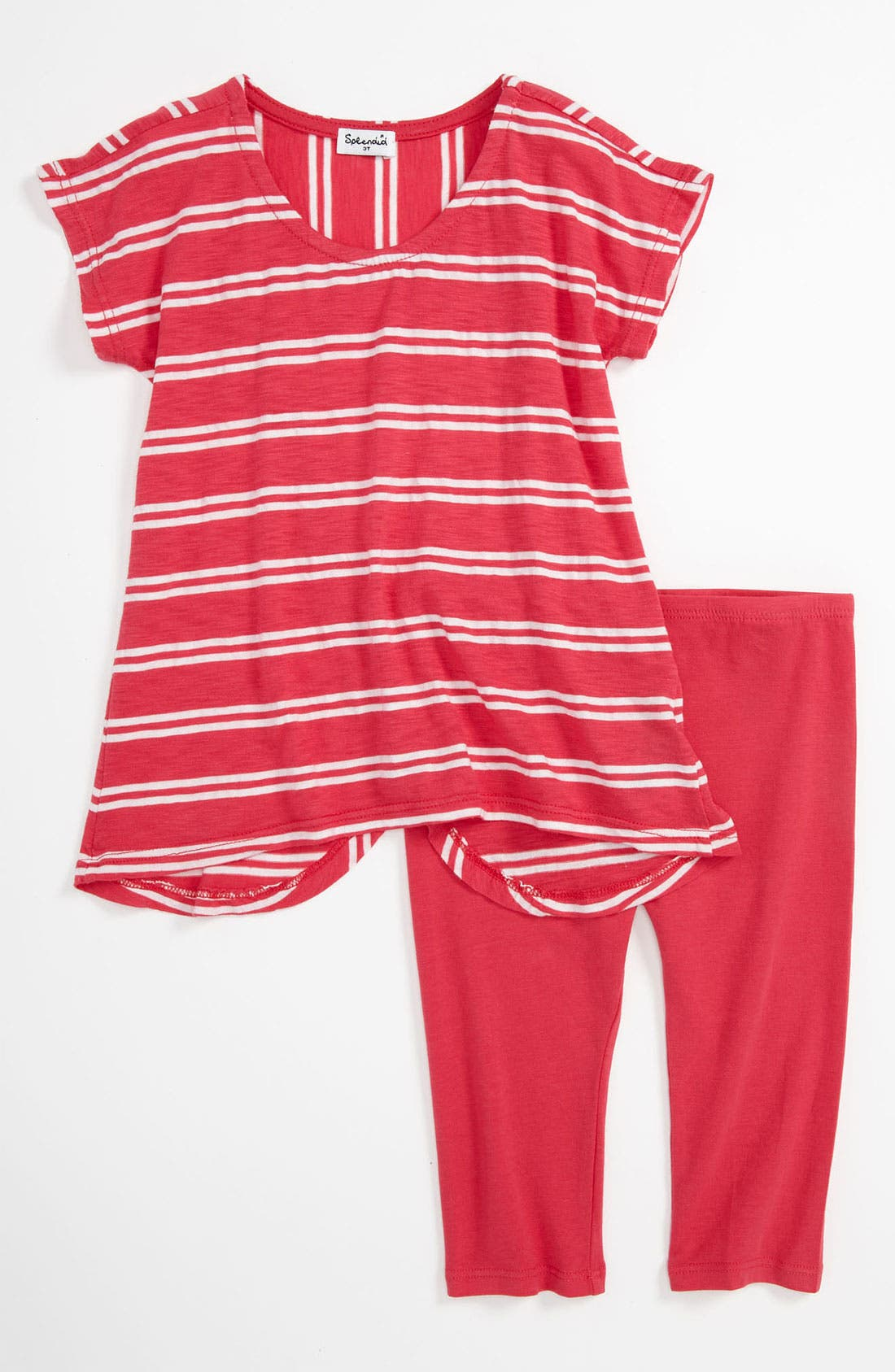 Alternate Image 1 Selected - Splendid Stripe Tunic & Leggings (Toddler)