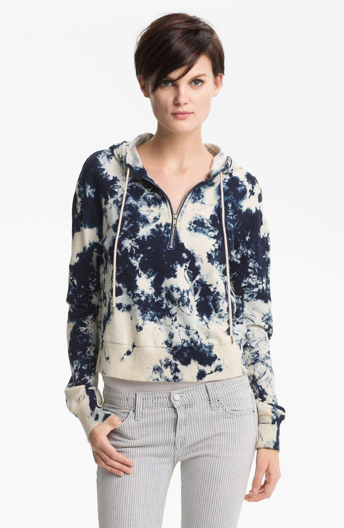 Main Image - TEXTILE Elizabeth and James Hooded Tie Dye Sweatshirt