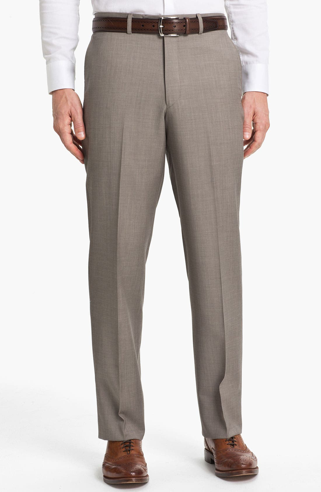 Main Image - Linea Naturale 'New Cool Luxe' Super 100s Wool Gabardine Trousers