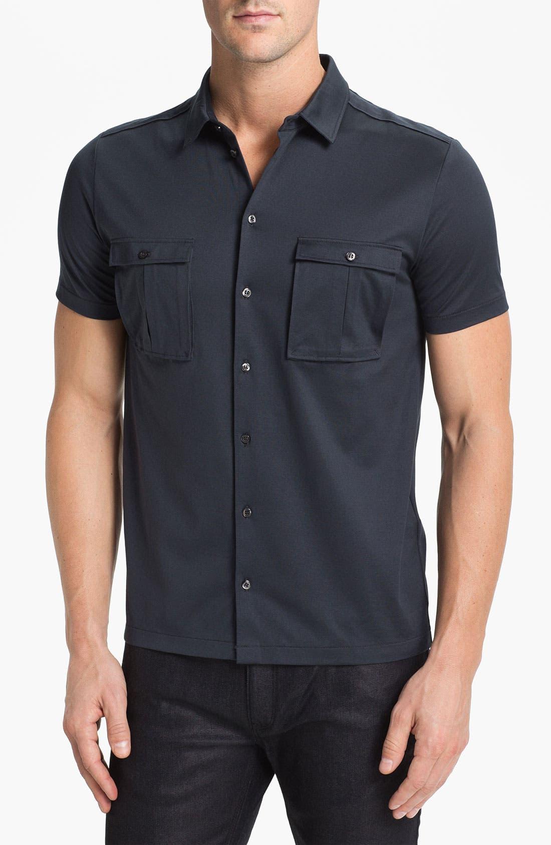 Main Image - HUGO 'Danalog' Knit Sport Shirt