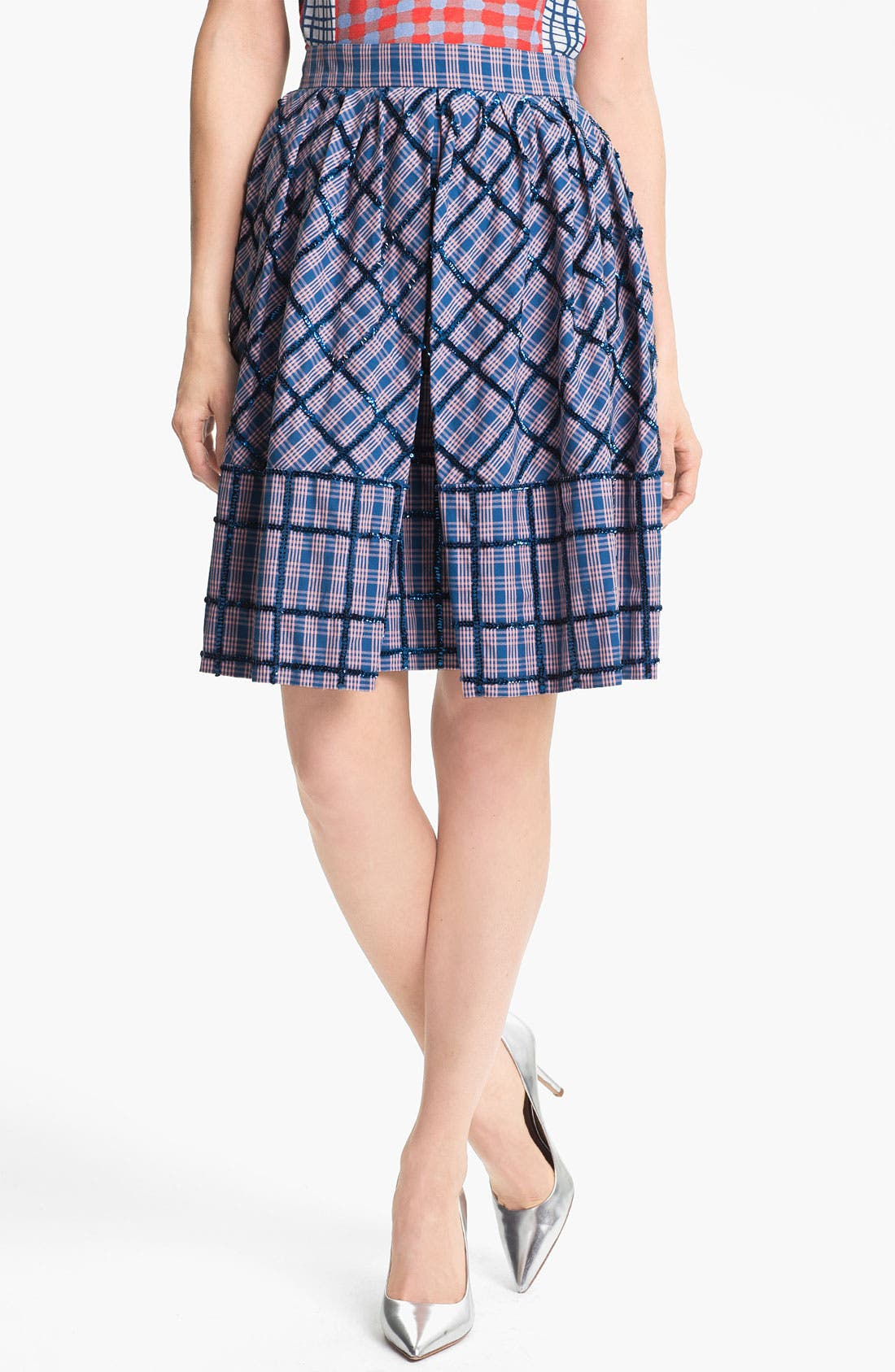 Main Image - MARC BY MARC JACOBS 'Belle Star' Sequin Plaid Skirt