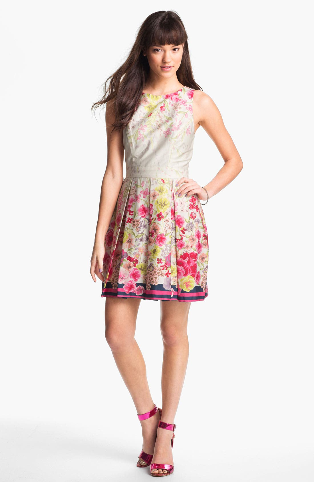 Alternate Image 1 Selected - Max & Cleo Print Fit & Flare Dress
