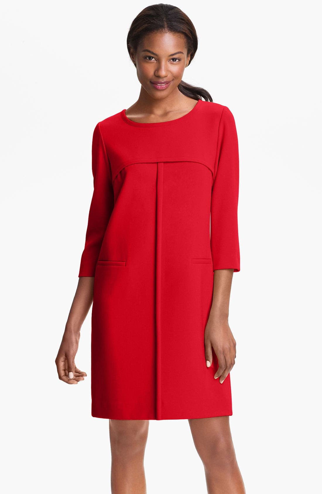 Alternate Image 1 Selected - Tahari Ponte Shift Dress (Petite)