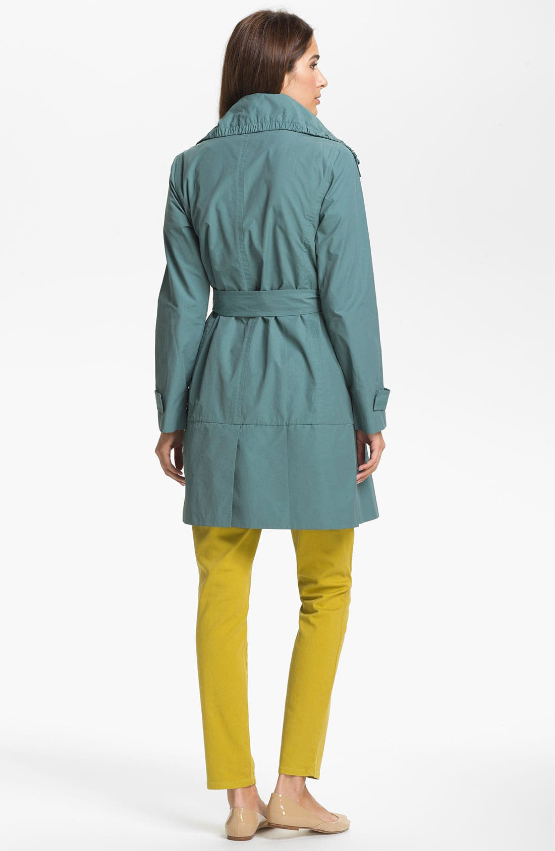Alternate Image 2  - Eileen Fisher Funnel Neck Coat (Online Only)