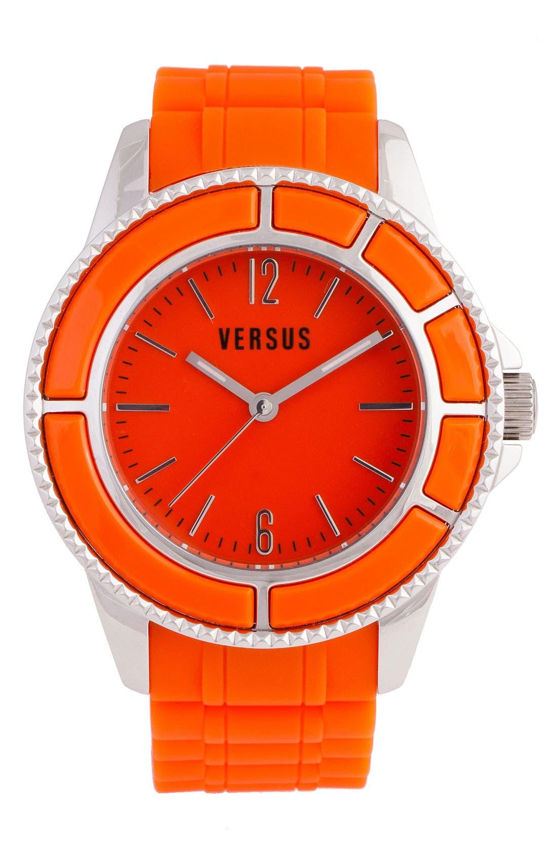 Main Image - VERSUS by Versace 'Tokyo' Rubber Strap Watch, 42mm