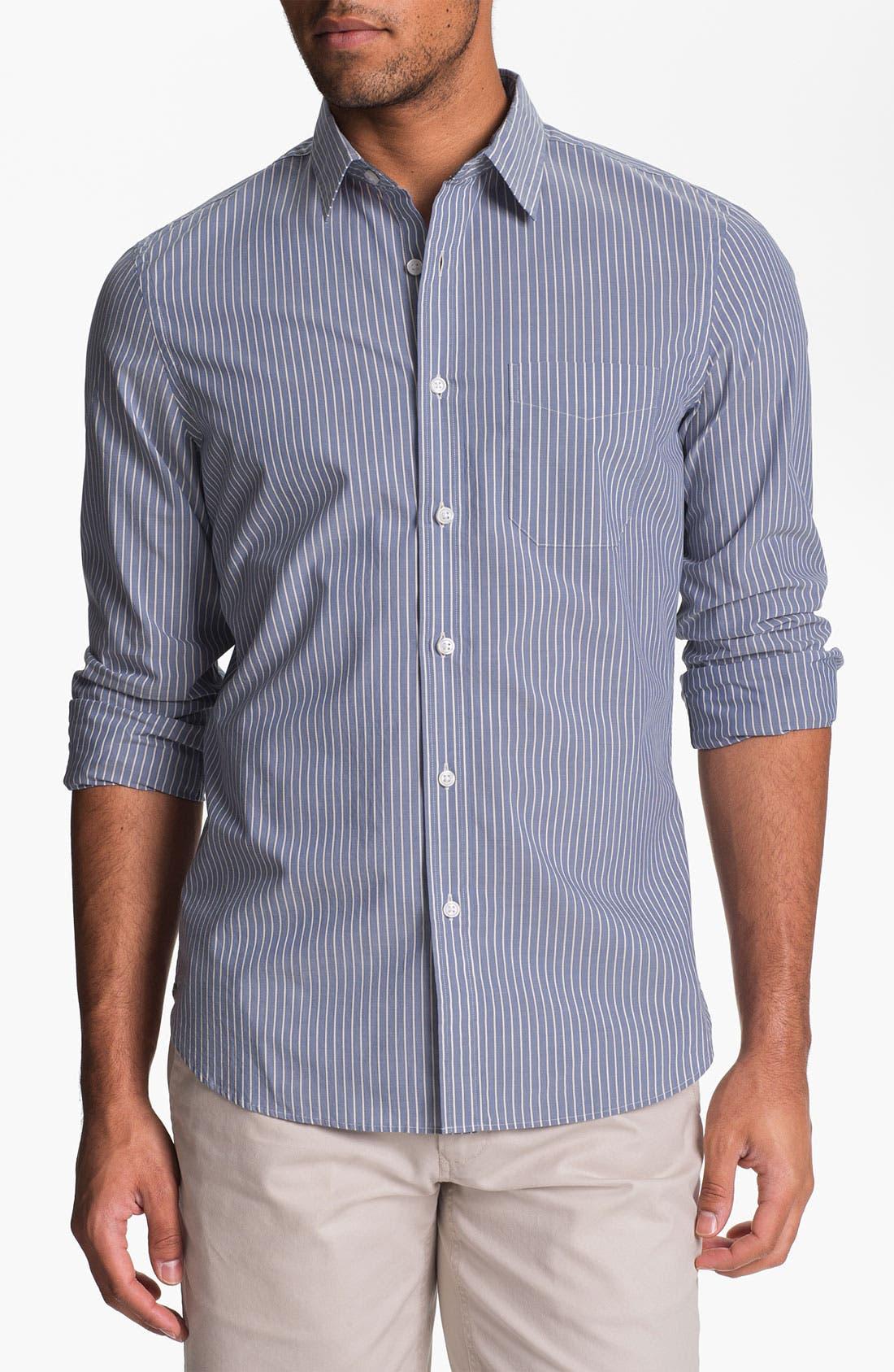 Main Image - Wallin & Bros. Trim Fit Poplin Sport Shirt