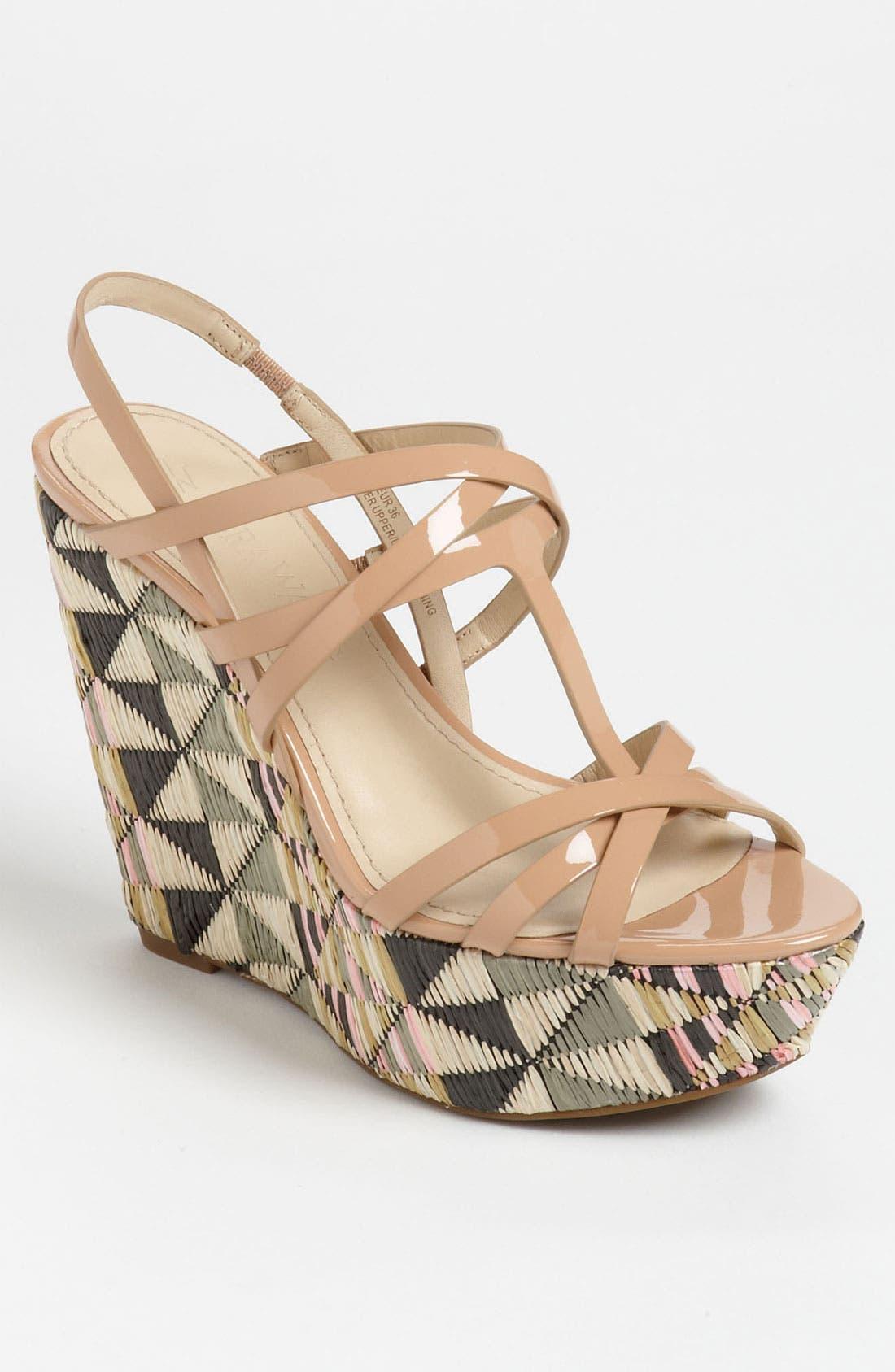 Main Image - Vera Wang Footwear 'Tavie 2' Wedge Sandal (Online Only)
