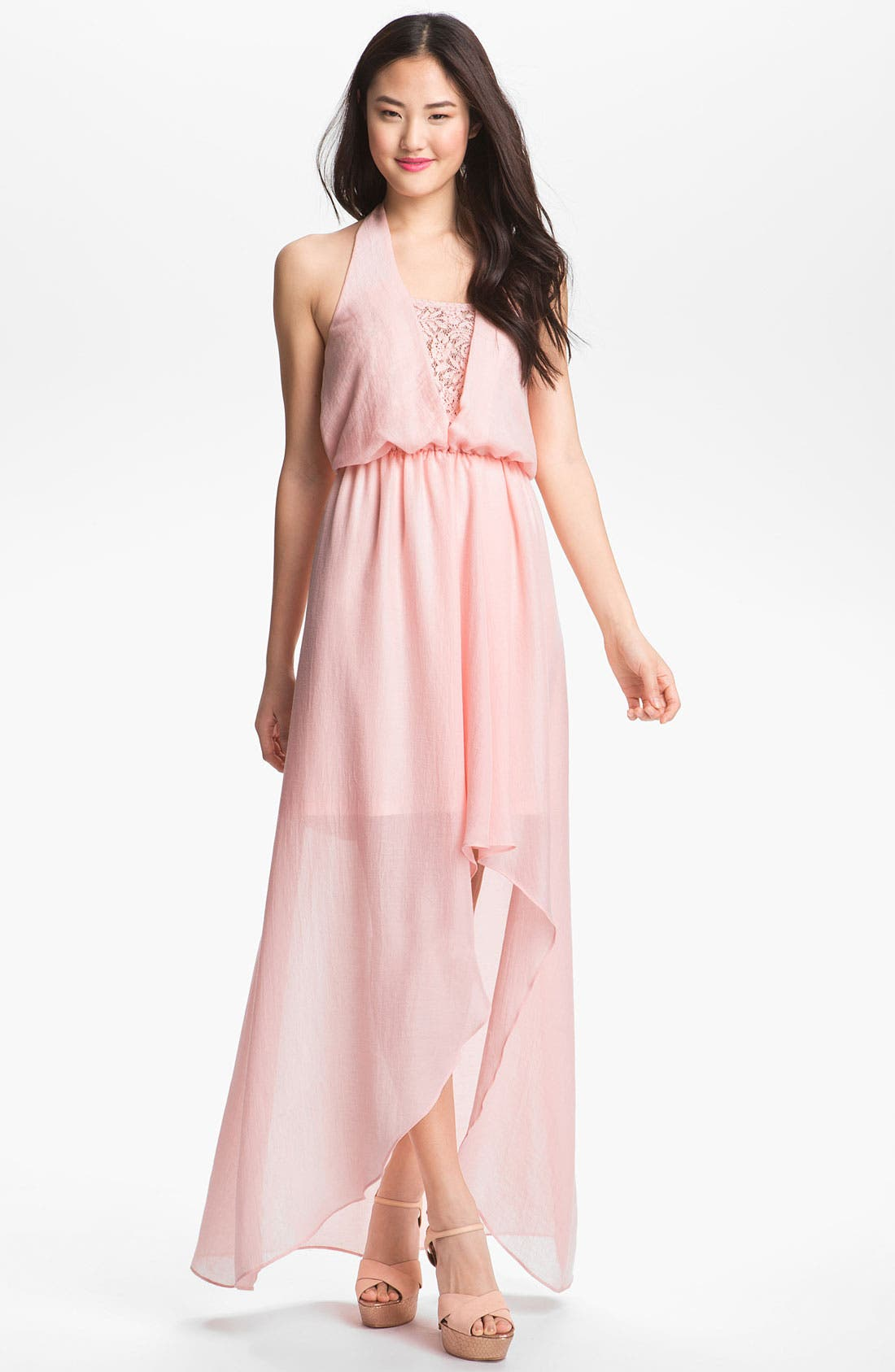 Main Image - Jessica Simpson Blouson Halter Maxi Dress