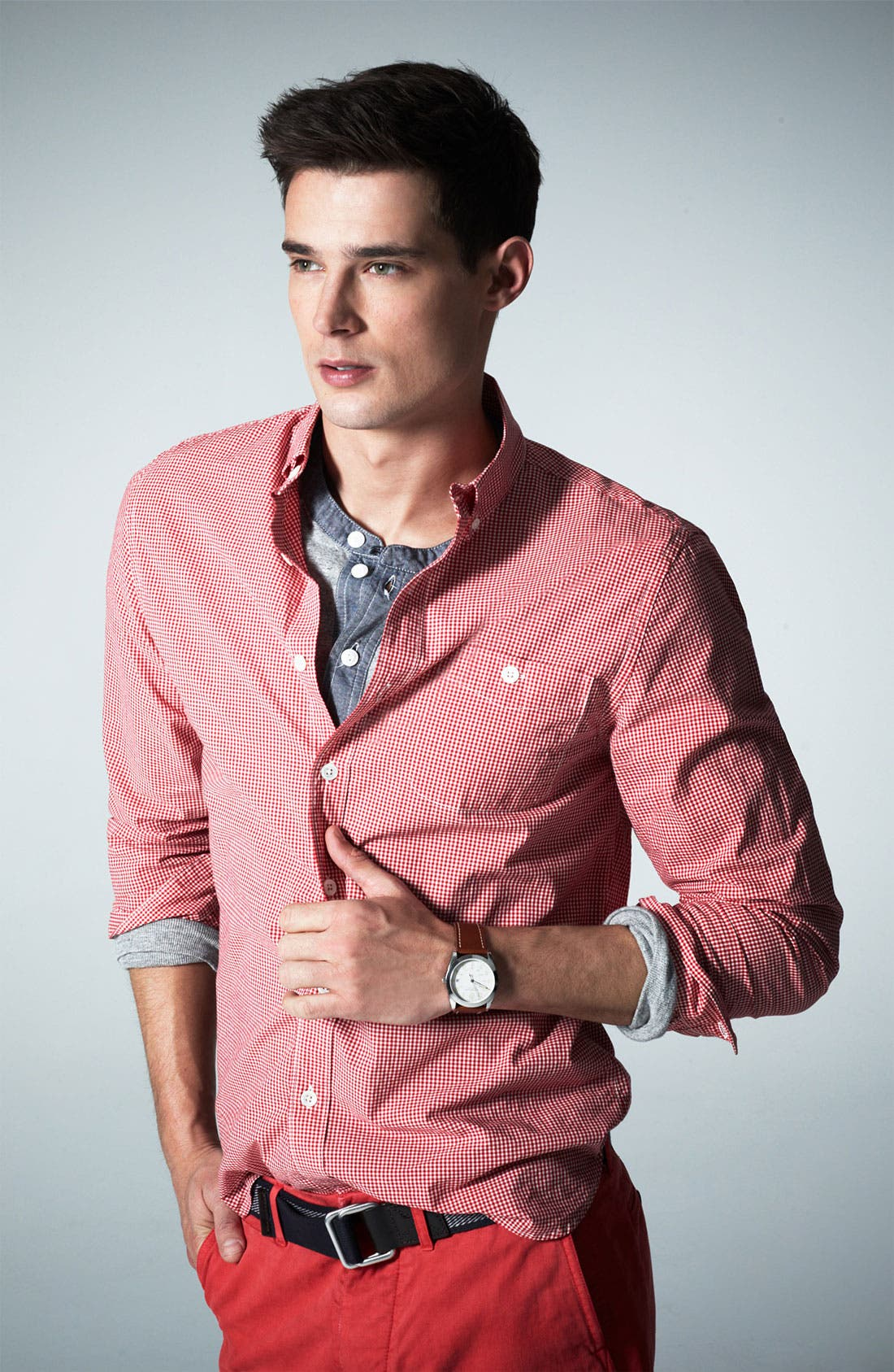 Alternate Image 4  - Todd Snyder Micro Gingham Shirt