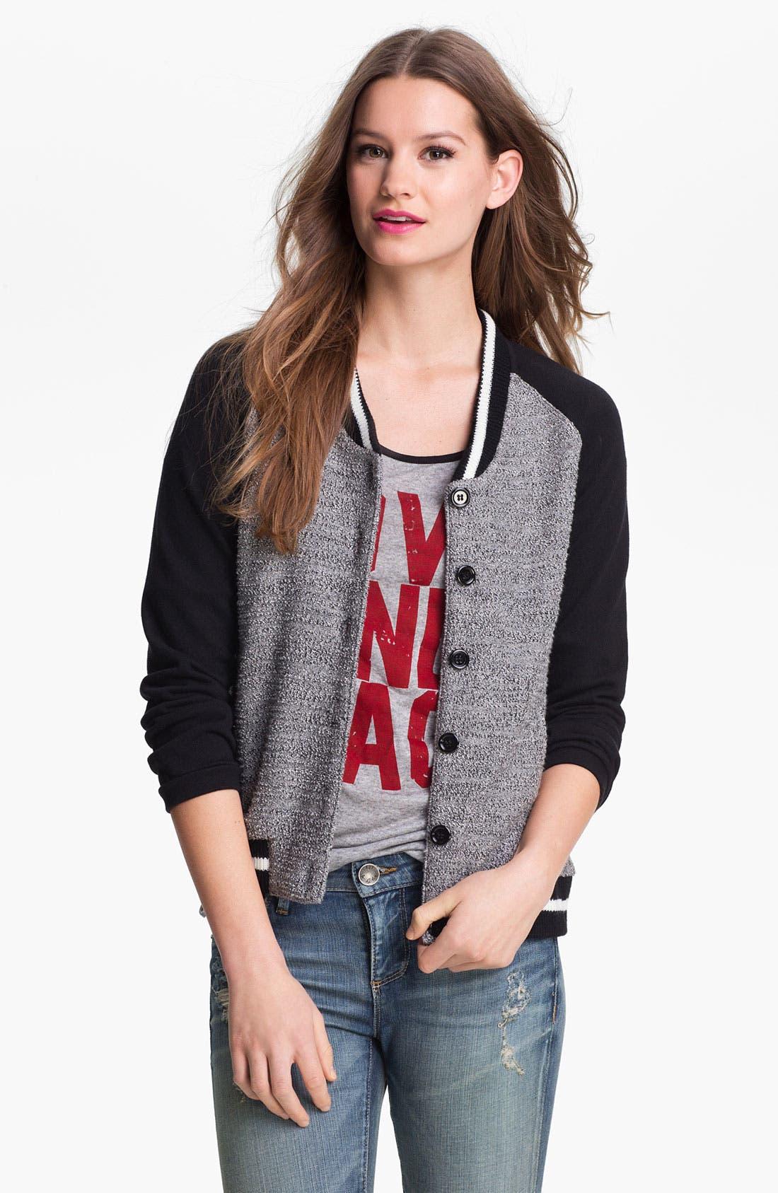 Alternate Image 1 Selected - KUT from the Kloth Baseball Sweater Jacket