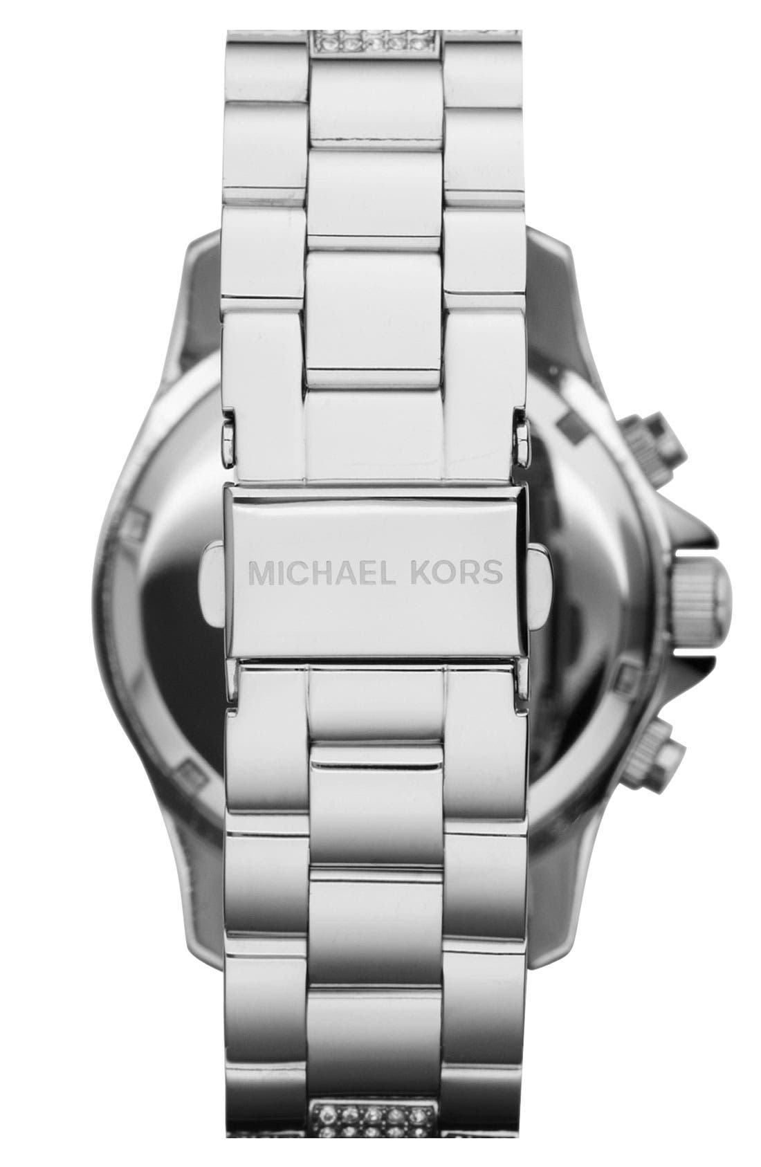 Alternate Image 3  - Michael Kors 'Layton' Crystal Encrusted Watch