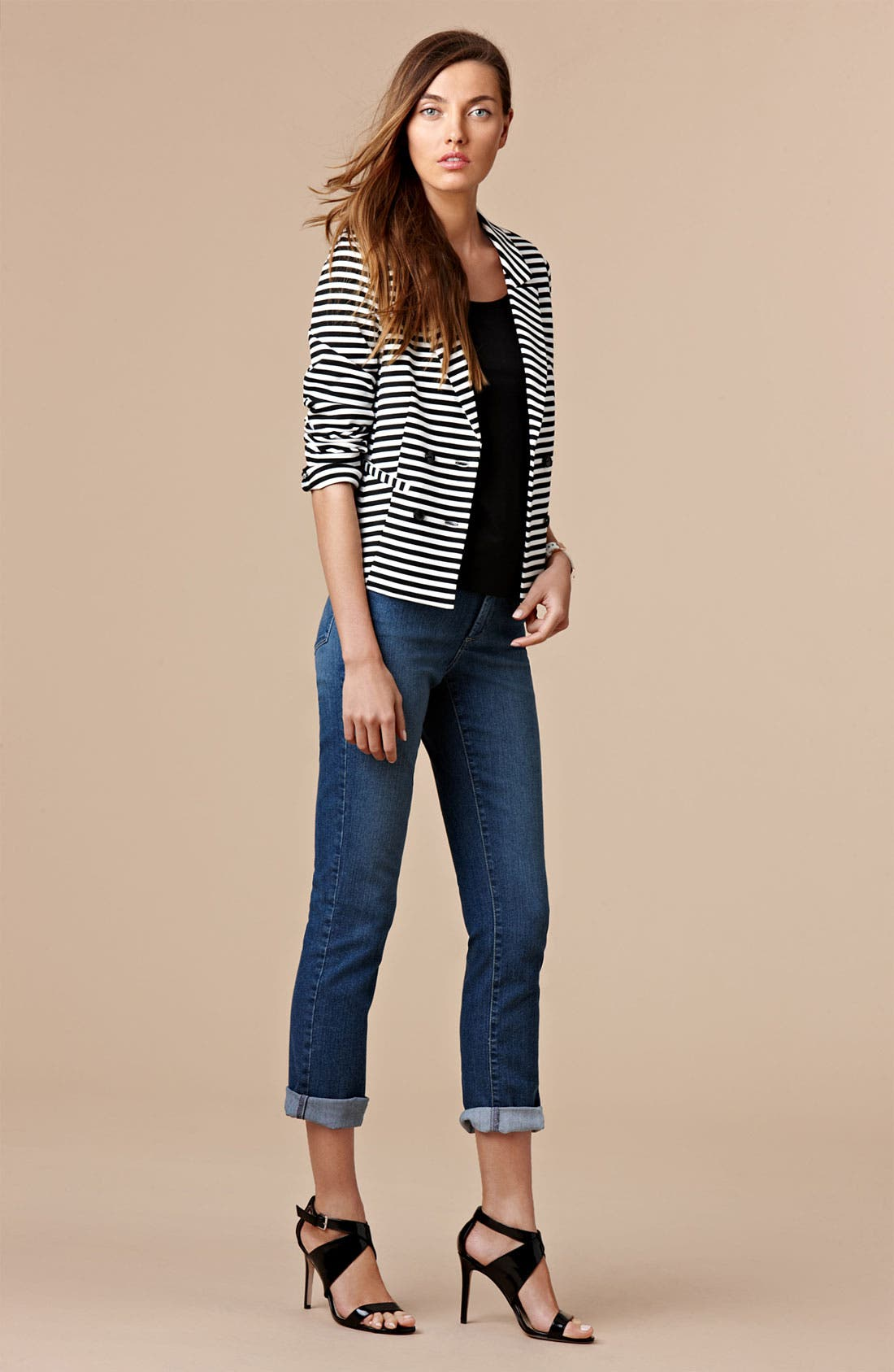 Alternate Image 4  - NYDJ 'Tanya' Cuffed Stretch Boyfriend Jeans