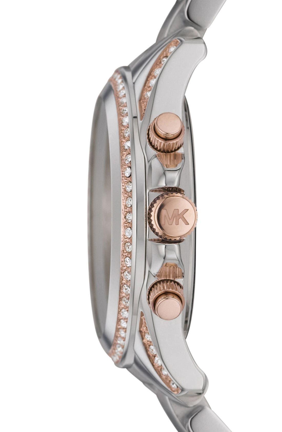 Alternate Image 3  - Michael Kors 'Blair' Crystal Chronograph Watch, 39mm