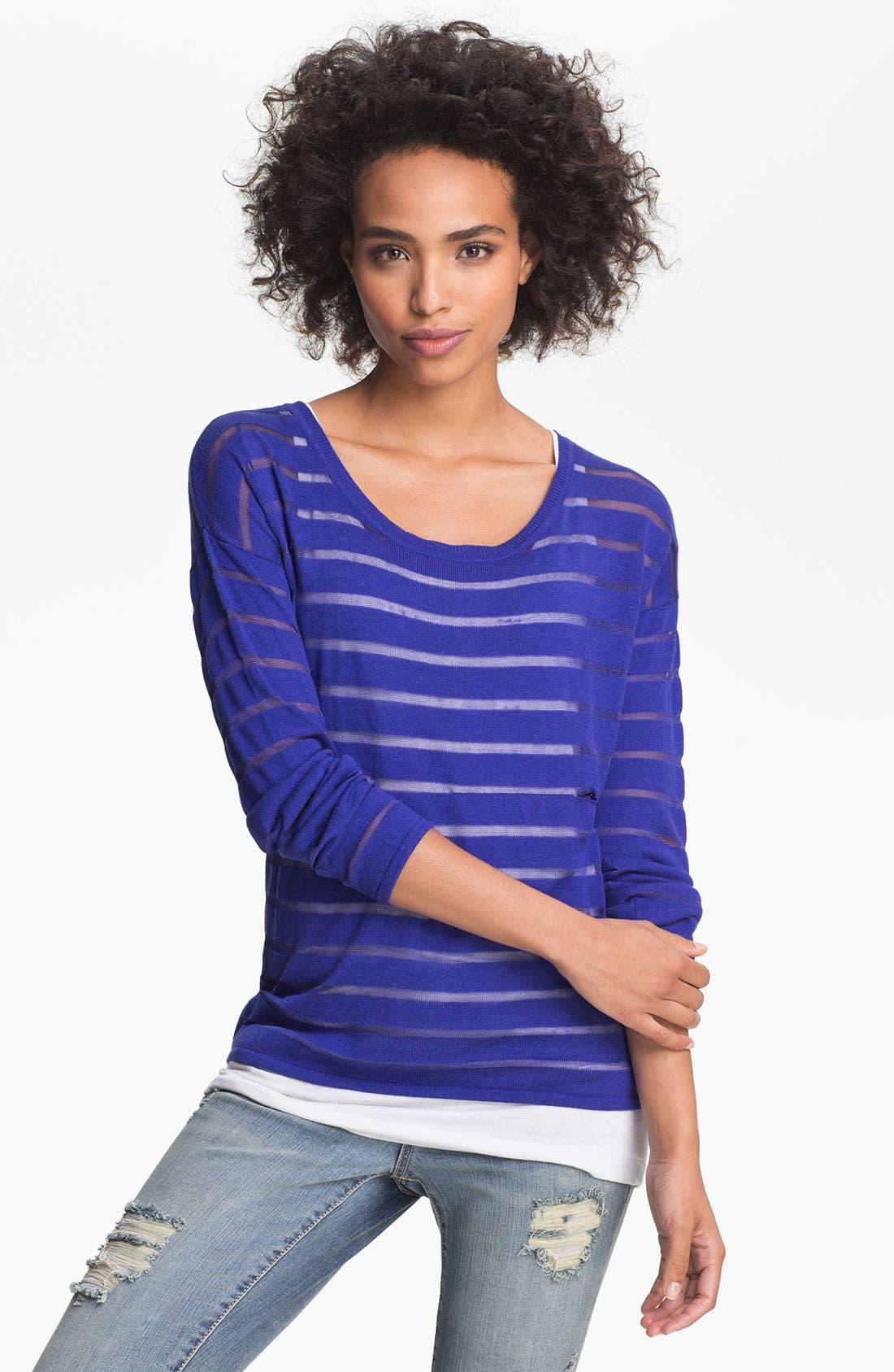 Alternate Image 1 Selected - Olive & Oak Shadow Stripe Sweater