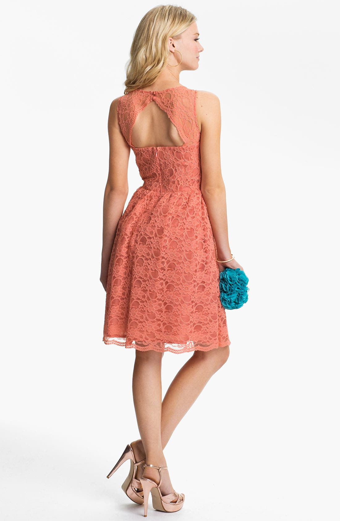 Alternate Image 2  - Calvin Klein Sleeveless Lace Fit & Flare Dress