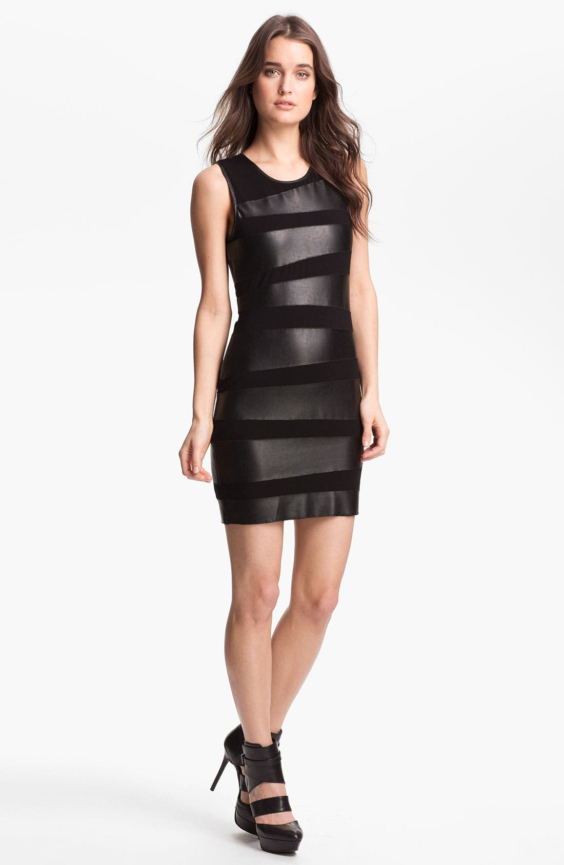 Alternate Image 1 Selected - B44 Dressed by Bailey 44 'Toro' Faux Leather Bandage Dress
