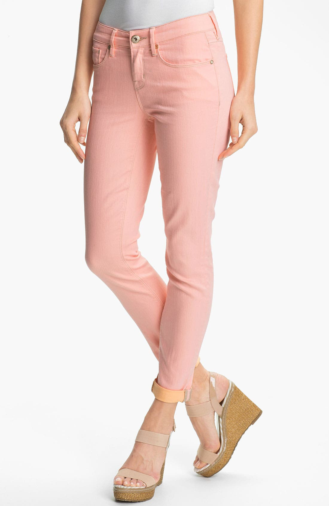 Alternate Image 1 Selected - Isaac Mizrahi Jeans Contrast Cuff Jeans