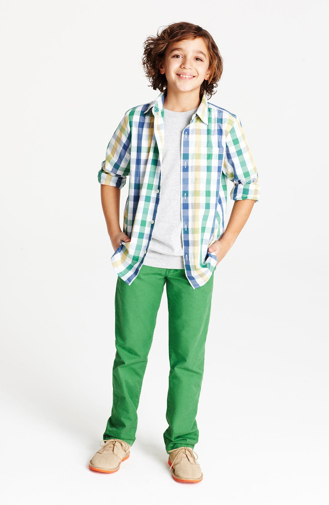 Alternate Image 1 Selected - Tucker + Tate Poplin Shirt, T-Shirt, Chino Pants & Boot (Big Boys)