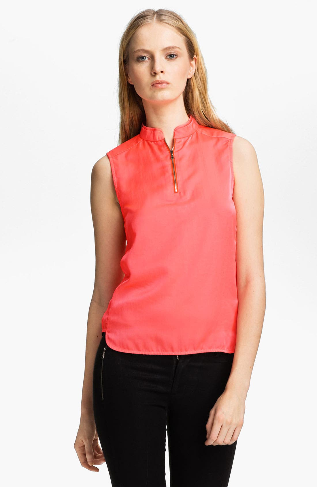 Alternate Image 2  - J Brand Ready-to-Wear 'Katina' Mandarin Collar Top