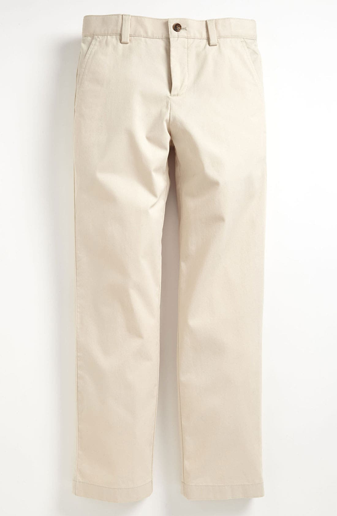 Alternate Image 1 Selected - Brooks Brothers Flat Front Chinos (Big Boys)