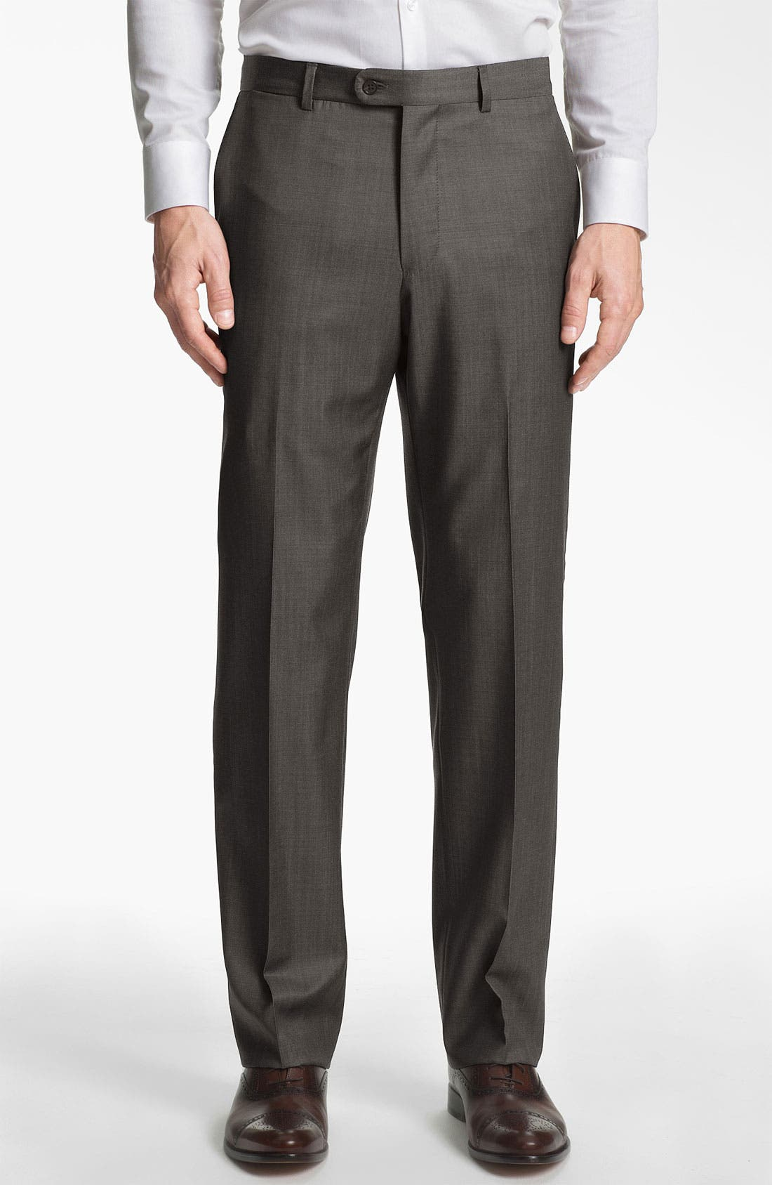 Main Image - Joseph Abboud Flat Front Trousers