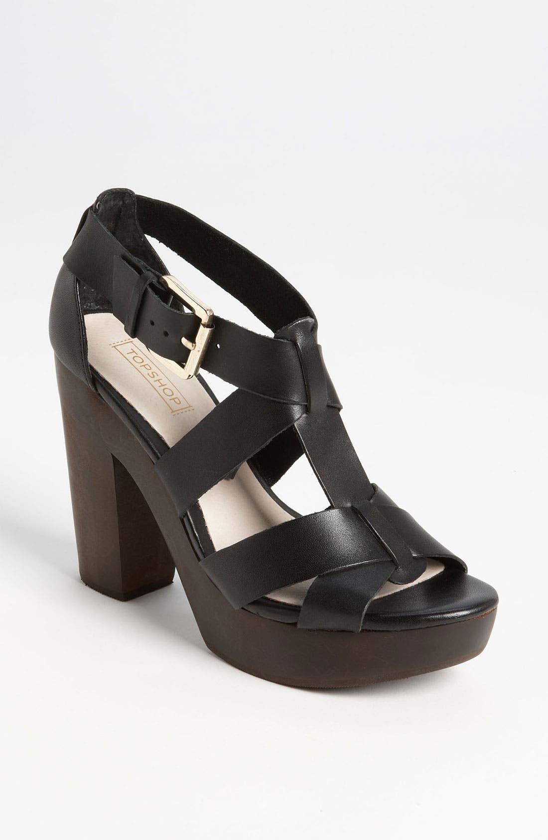 Alternate Image 1 Selected - Topshop 'Right-Wood' Sandal