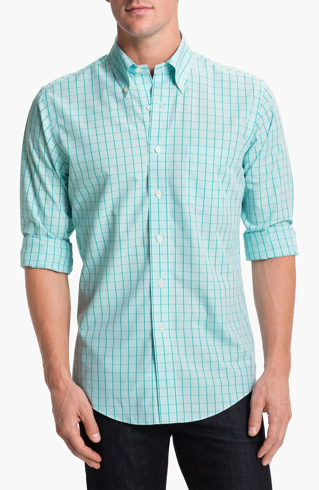 Alternate Image 1 Selected - Brooks Brothers Checkered Sport Shirt