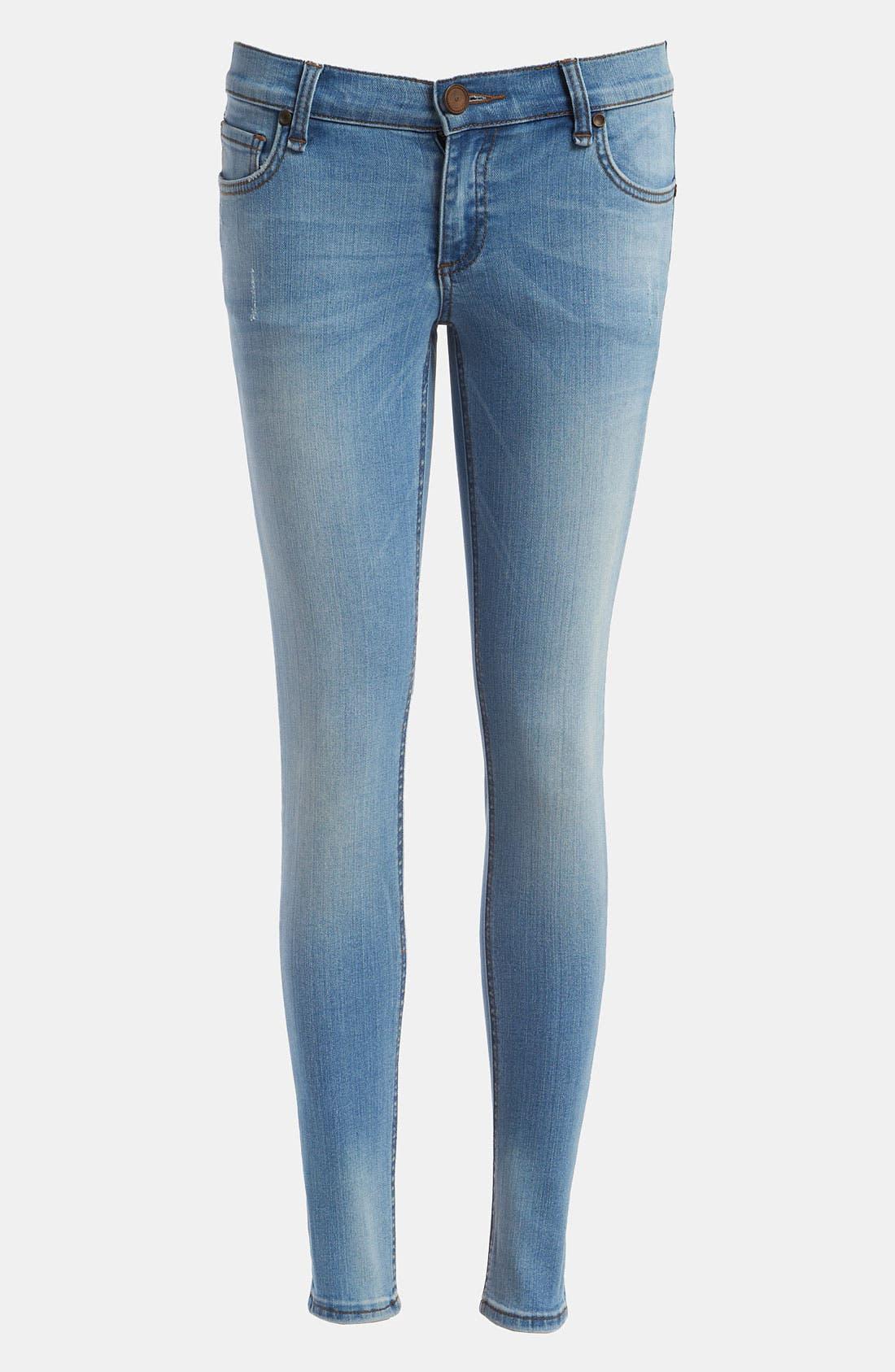 Main Image - edyson 'Sloan' Skinny Jeans (Light Pacific)