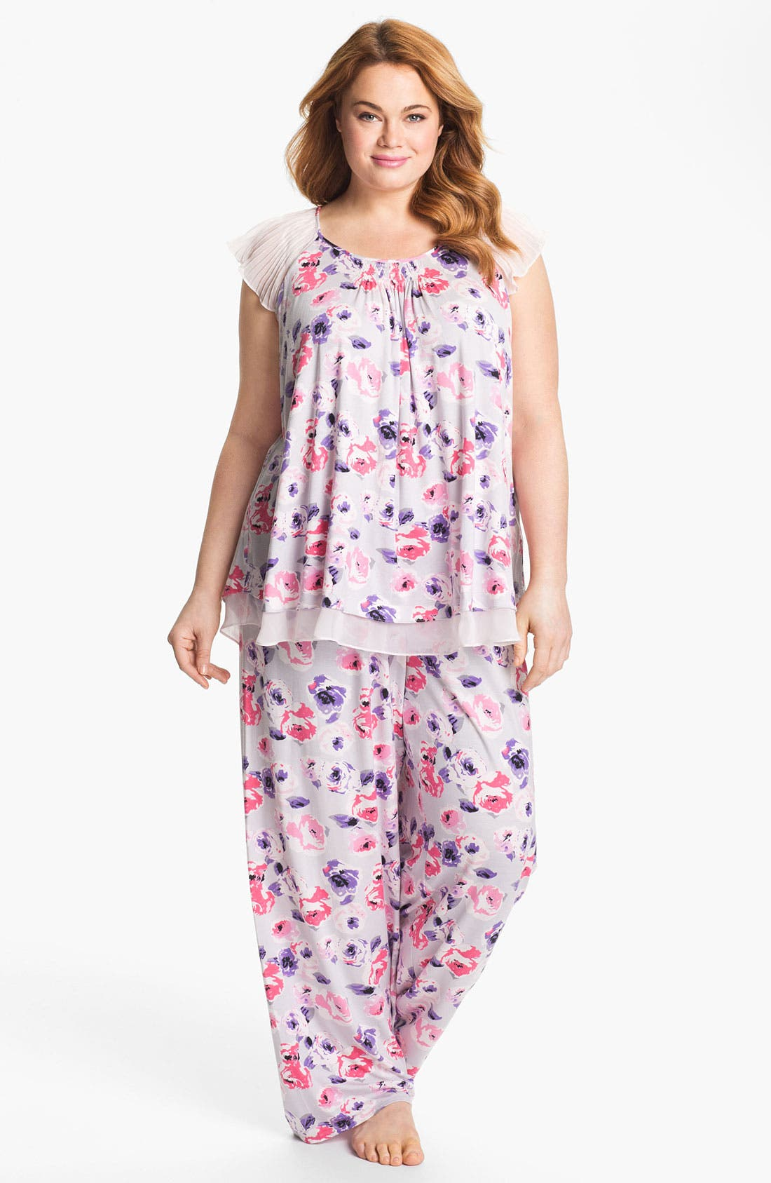 Alternate Image 1 Selected - Midnight by Carole Hochman 'Kiss by a Rose' Pajamas (Plus)