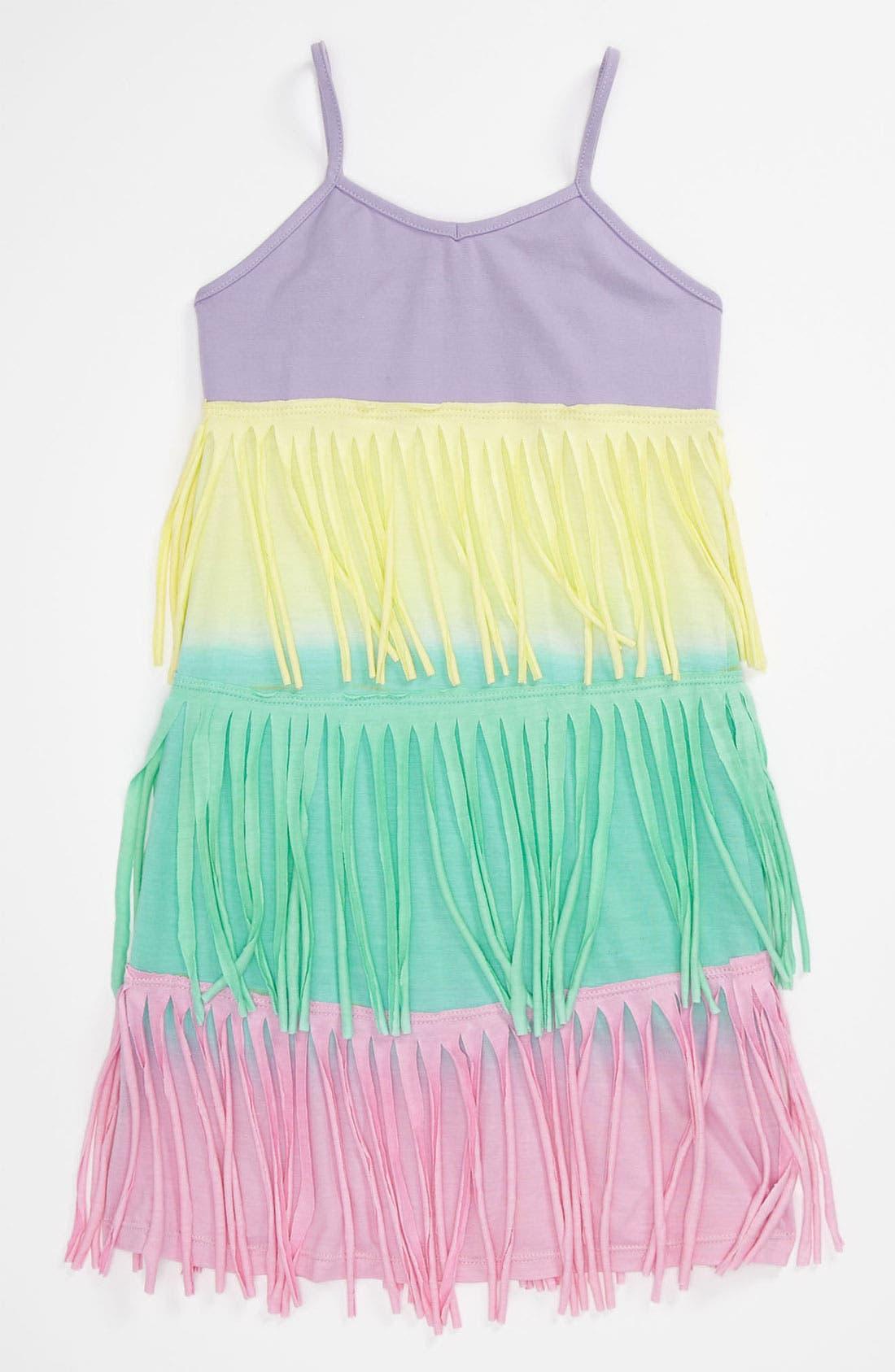 Main Image - Flowers by Zoe Ombré Fringe Dress (Little Girls)