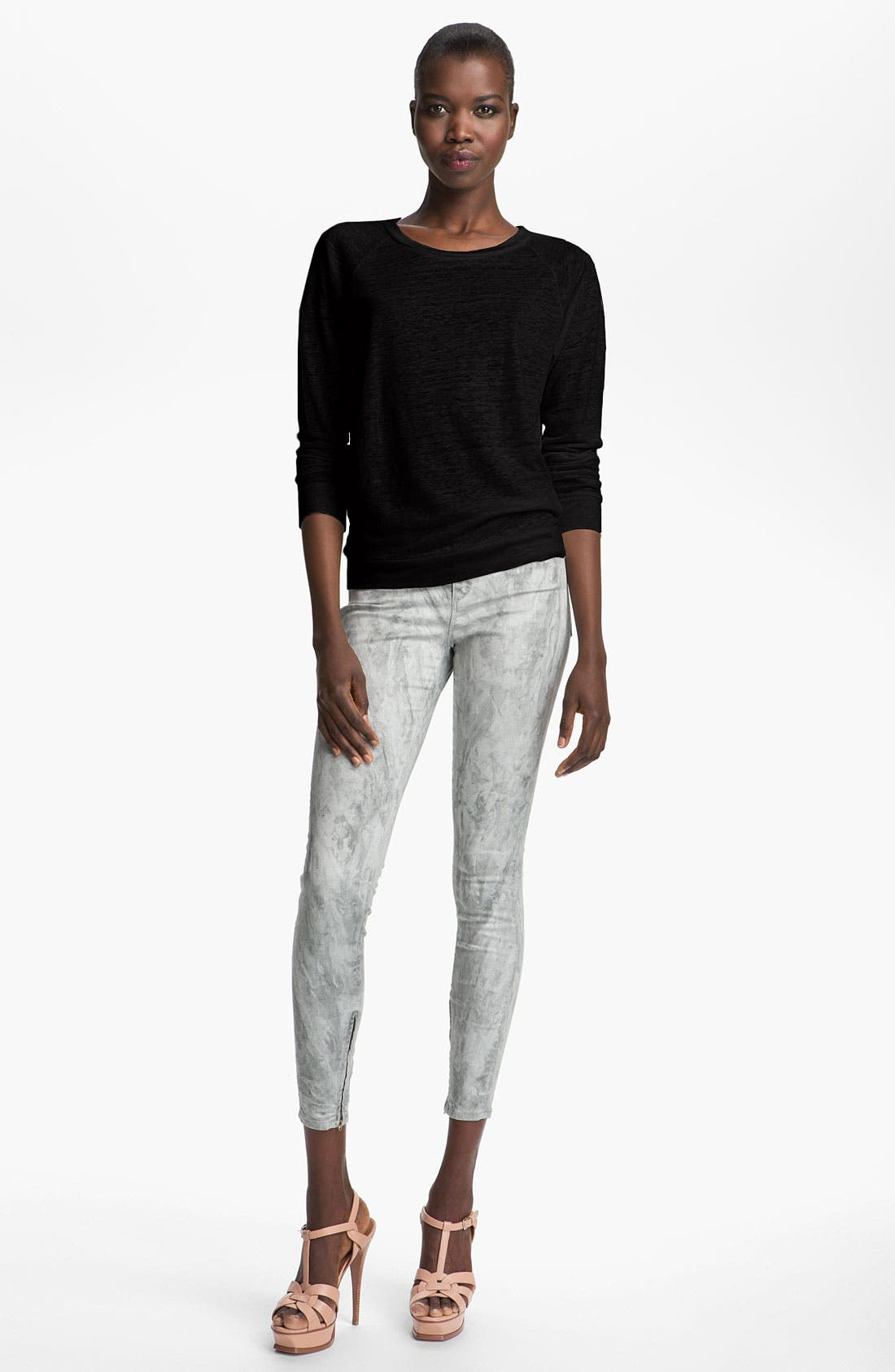 Alternate Image 1 Selected - Majestic Silk Back Sweatshirt