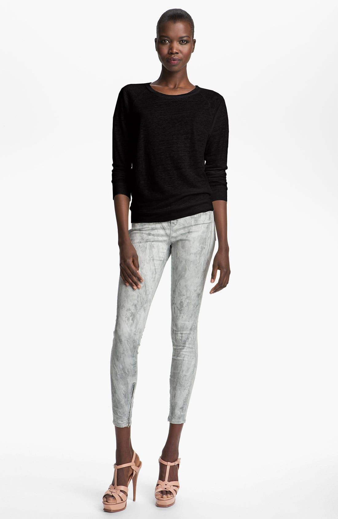 Main Image - Majestic Silk Back Sweatshirt