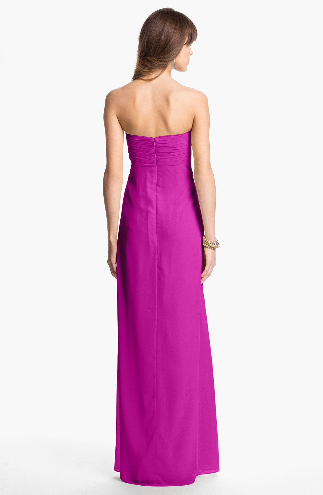 Alternate Image 2  - Laundry by Shelli Segal Strapless Chiffon Gown