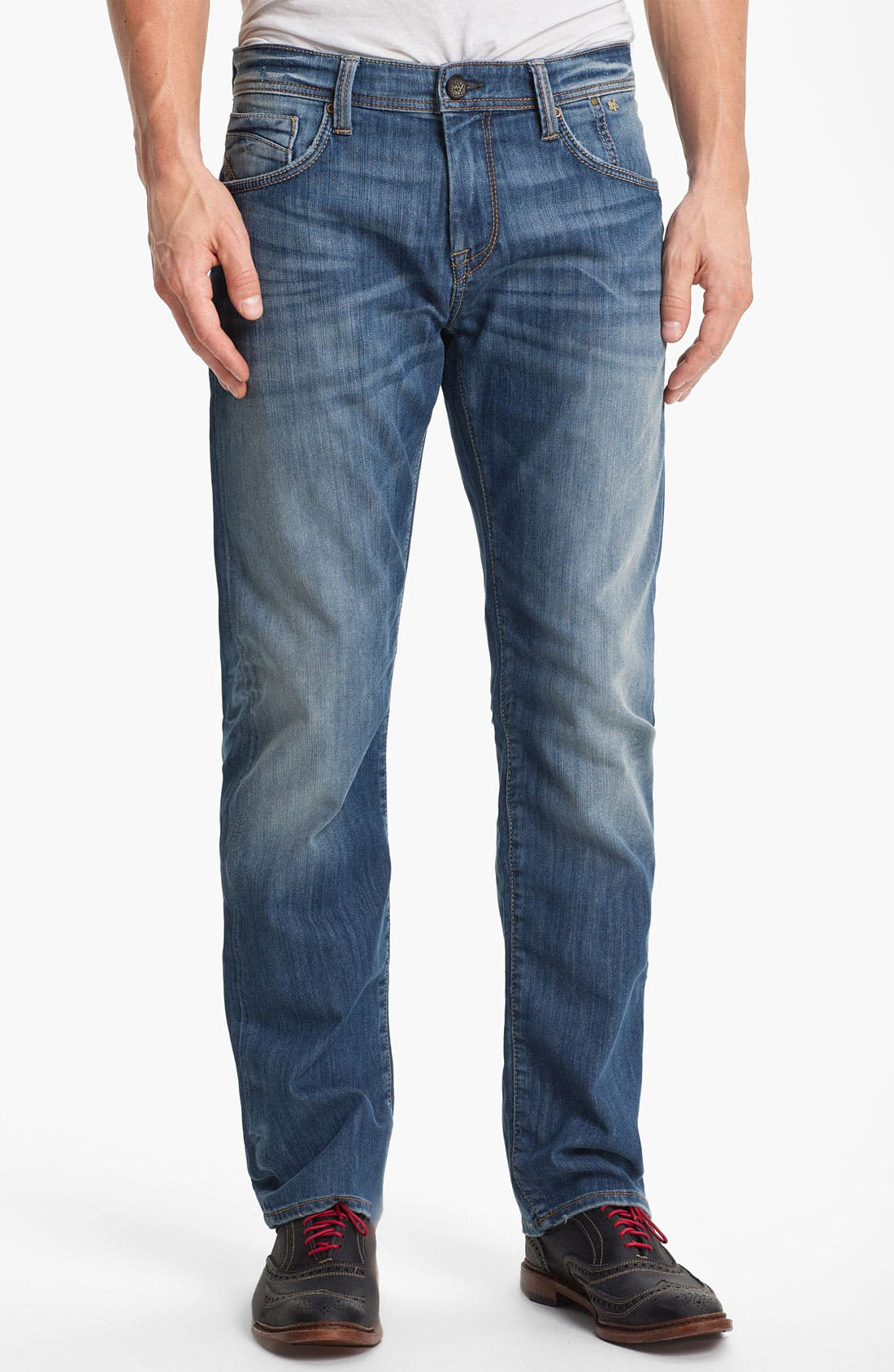 Alternate Image 1 Selected - Mavi Jeans 'Zach' Straight Leg Jeans (Light Cooper)