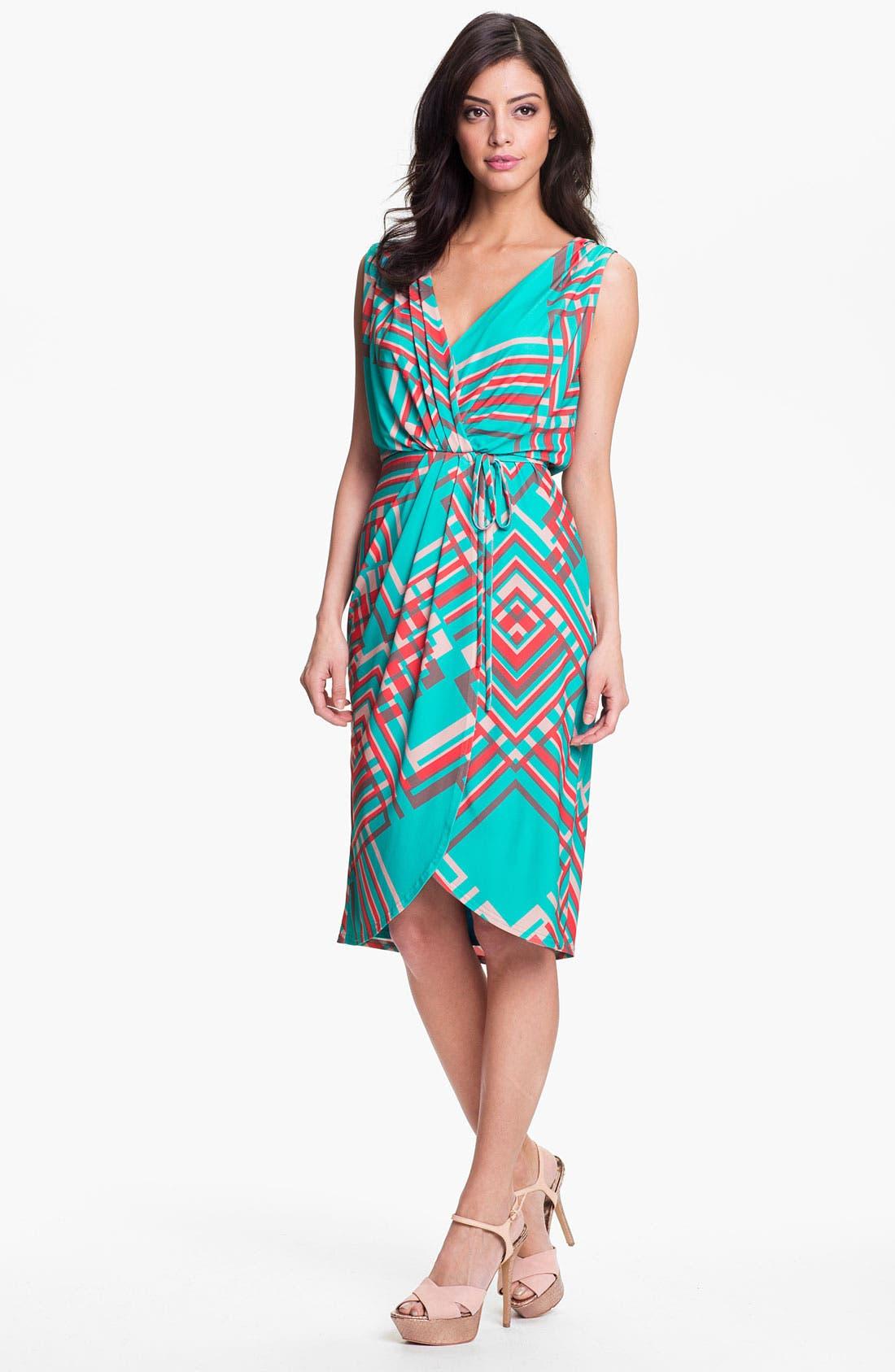 Main Image - Jessica Simpson 'Argyle Bluebird' Faux Wrap Dress
