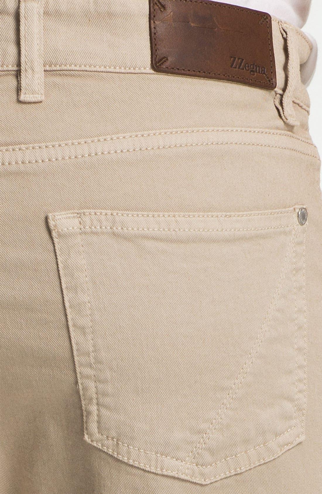 Alternate Image 3  - Z Zegna Straight Leg Jeans (Light Beige)