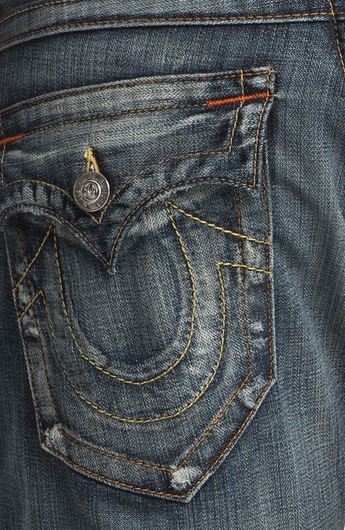 Alternate Image 4  - True Religion Brand Jeans 'Ricky' Straight Leg Jeans (Granite)