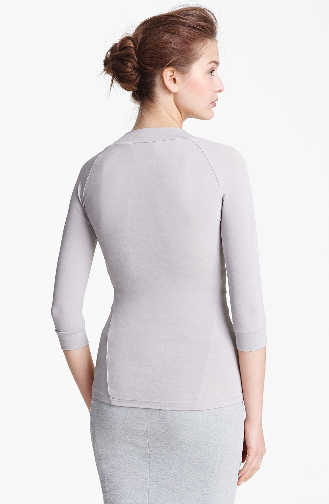 Alternate Image 2  - Donna Karan Collection Matte Jersey Top