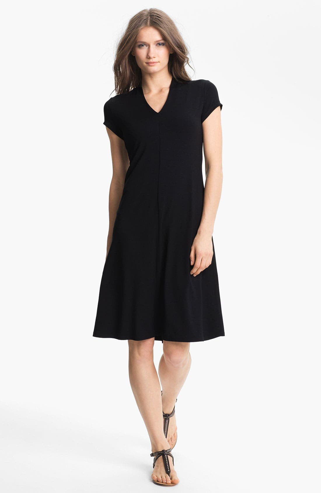 Alternate Image 1 Selected - Eileen Fisher Knit Fit & Flare Dress