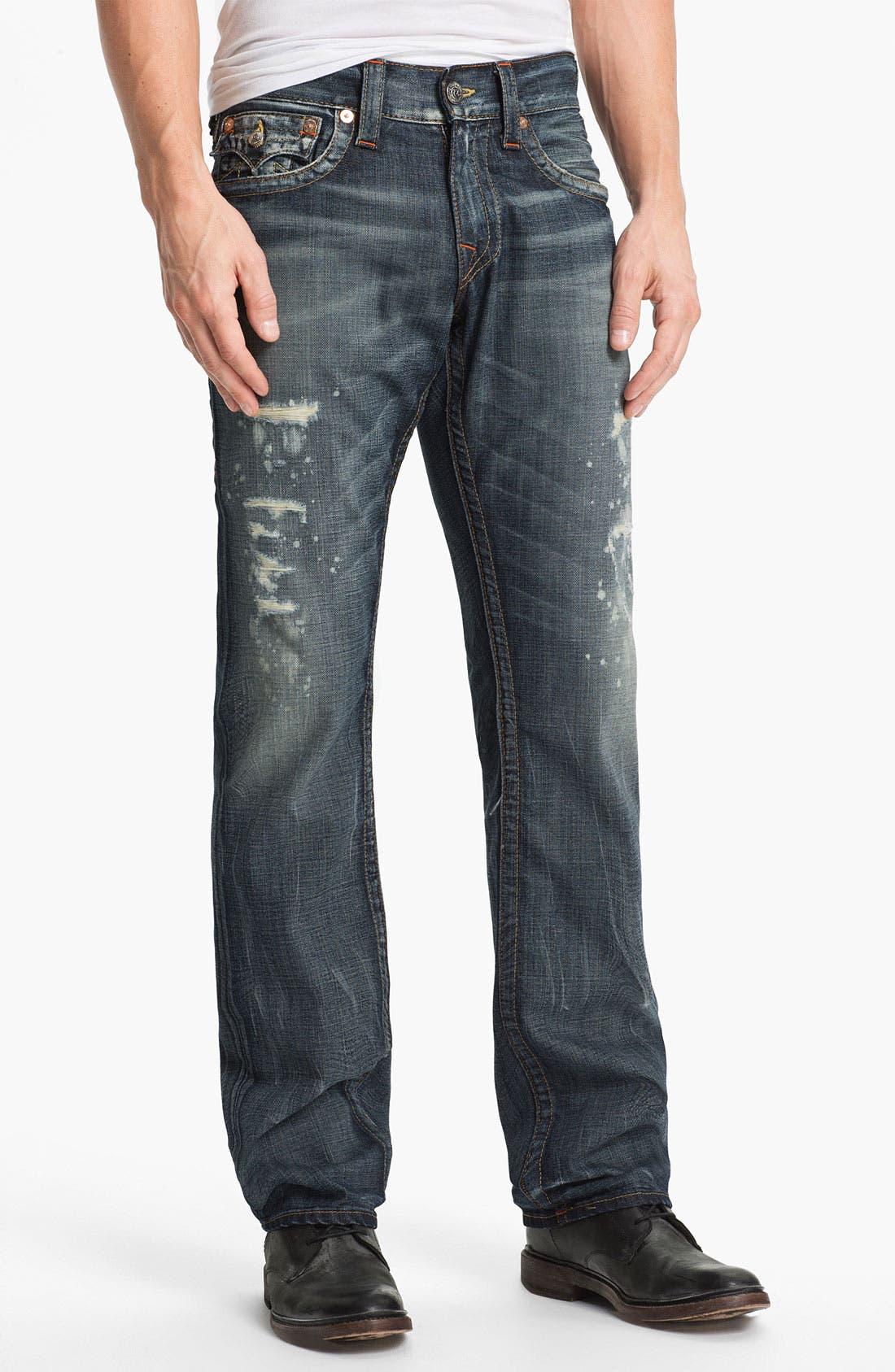 Alternate Image 2  - True Religion Brand Jeans 'Ricky' Straight Leg Jeans (Granite)