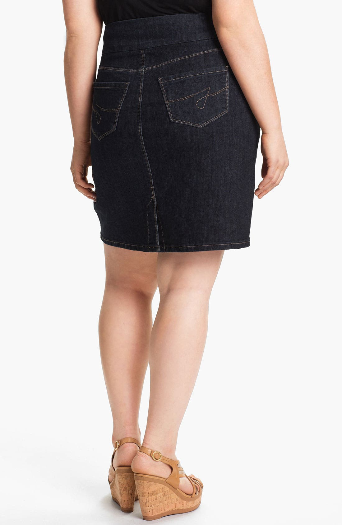 Alternate Image 2  - Jag Jeans 'Maddock' Denim Skirt (Plus Size) (Online Only)
