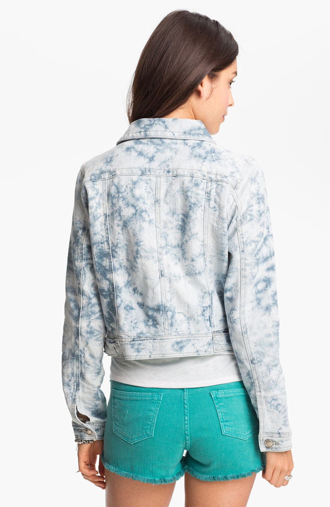 Alternate Image 2  - Jou Jou Acid Wash Denim Jacket (Juniors)