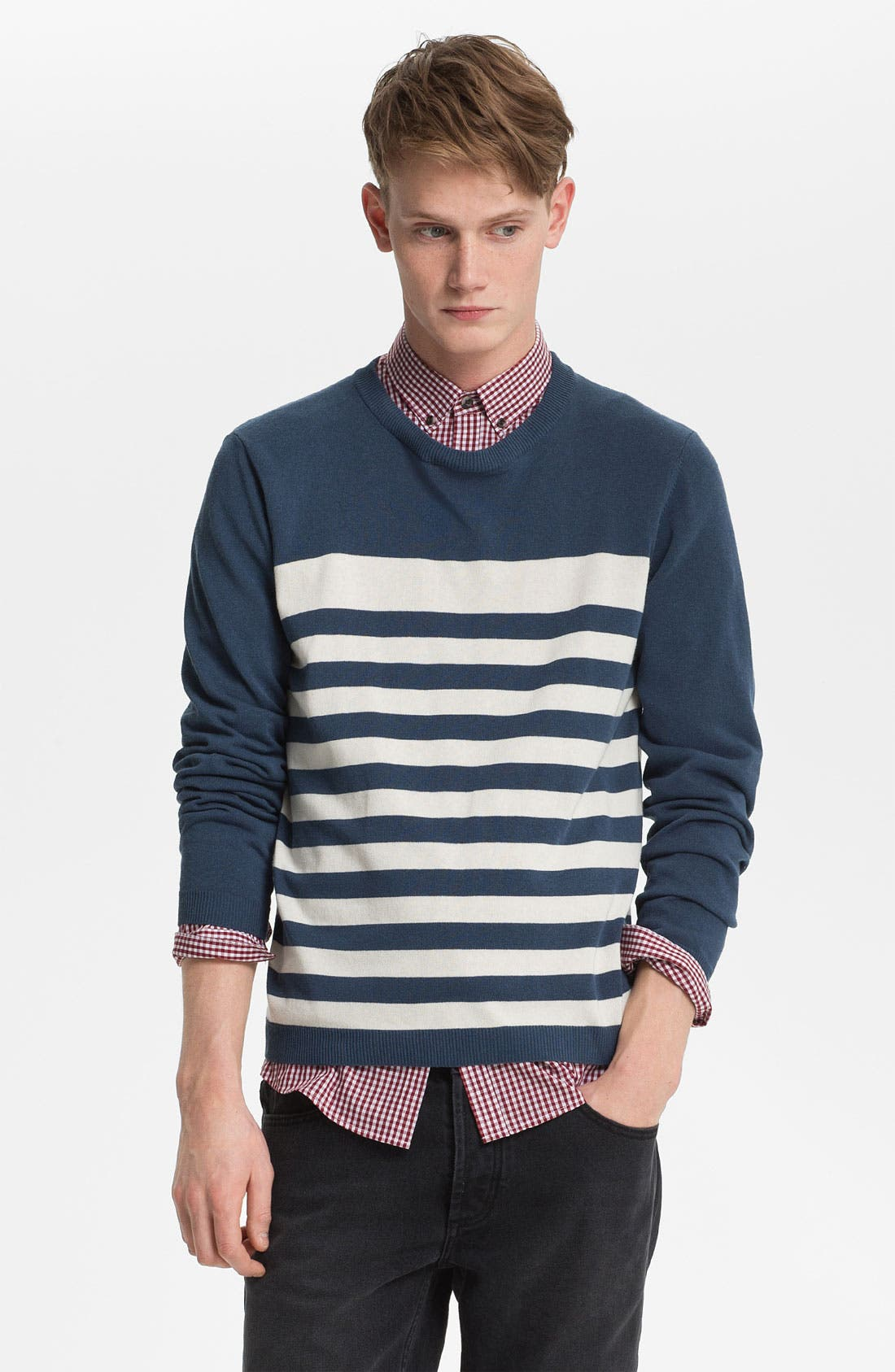 Alternate Image 1 Selected - Topman Stripe Sweater