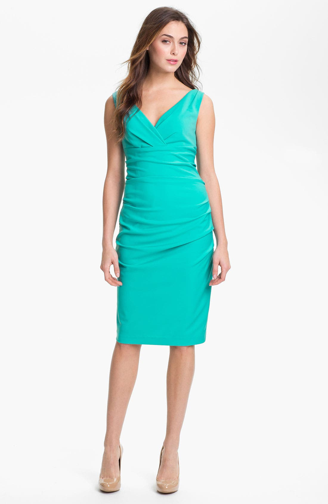 Main Image - Suzi Chin for Maggy Boutique Ruched Jersey Sheath Dress