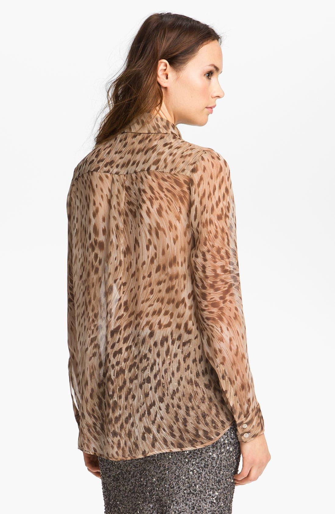 Alternate Image 3  - Haute Hippie Leopard Print Silk Shirt