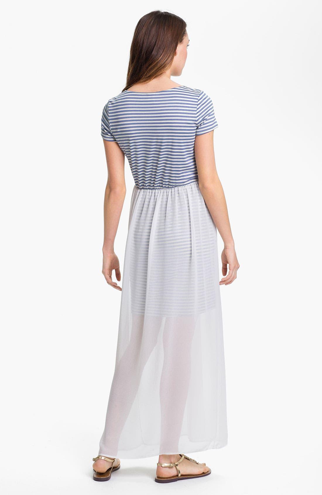 Alternate Image 2  - MOD.lusive Chiffon Overlay Maxi Dress