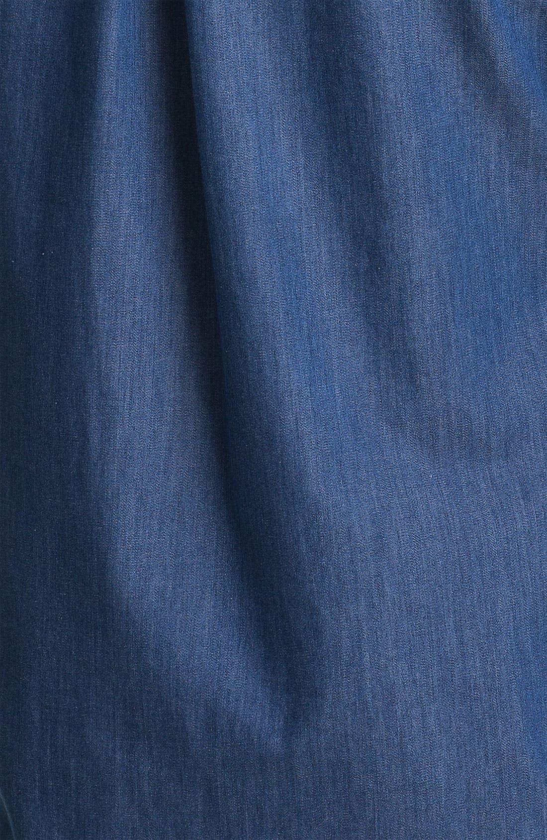 Alternate Image 3  - Foxcroft Two Pocket Denim Shirt