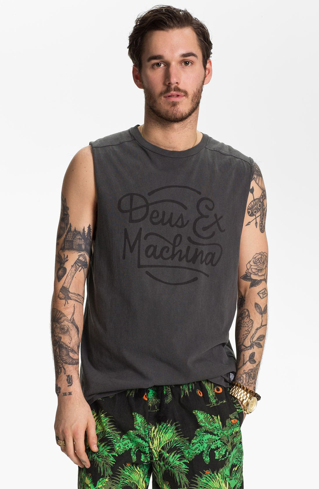 Alternate Image 1 Selected - Deus Ex Machina 'Throttle Top' Muscle T-Shirt